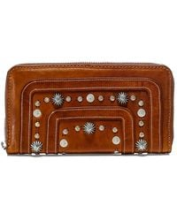 Campomaggi Studded Leather Purse - Brown