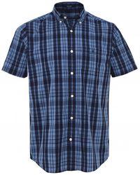 GANT Regular Fit Short Sleeve Check Shirt - Bleu
