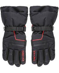 Bogner Water-repellent Eric Ski Gloves - Black