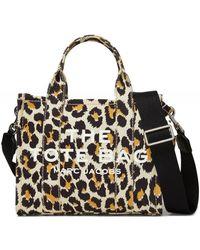 Marc Jacobs Leopard Small Traveller Tote Bag - Noir