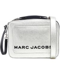 Marc Jacobs Sac argente The Mini Box - Métallisé