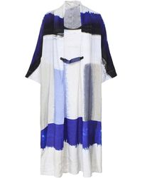 Crea Concept - Linen Blend Printed Oversized Dress - Lyst