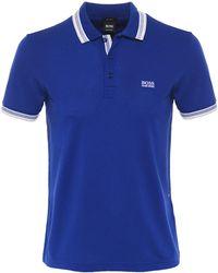 BOSS Green - Regular Fit Pique Paddy Polo Shirt - Lyst