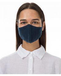 Grizas Pack of 3 Plain Linen Protective Face Masks - Bleu