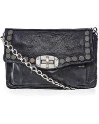 Campomaggi Leather Studded Shoulder Bag - Noir