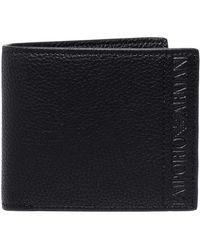 Armani - Pebbled Faux Leather Bi-fold Wallet - Lyst