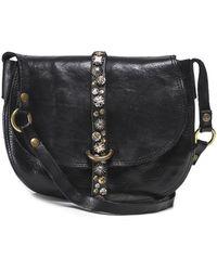 Campomaggi Studded Leather Crossbody Bag - Noir