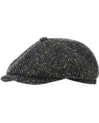 Stetson - Virgin Wool Hatteras Herringbone Cap - Lyst 4823143e03d7