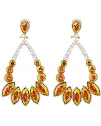 Uzurii Crystal Drop Earrings - Multicolore