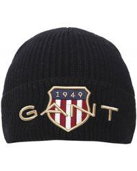 GANT Shield Beanie - Noir