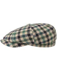 Stetson Wool Blend Check Hatteras Cap - Noir
