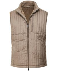 Hackett Channel Gilet - Natural