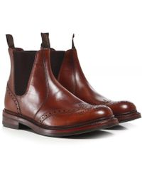 Loake - Leather Enfield Brogue Boots - Lyst