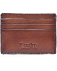 Loake Leather Sterling Card Holder - Brown