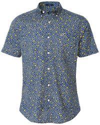 GANT Regular Fit Short Sleeve Lemonade Shirt - Bleu