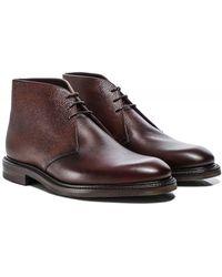 Loake Leather Lytham Chukka Boots - Rouge
