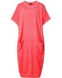 Oska Narve Hemp & Organic Cotton Blend Dress - Rouge