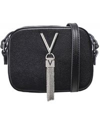 Valentino By Mario Valentino Divina Pebbled Crossbody Bag - Noir