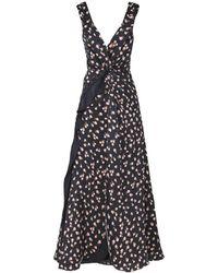 Self-Portrait Ruffle-trimmed Floral Dress - Black