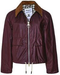 Barbour ALEXACHUNG Margot Waxed Cotton Jacket - Rouge
