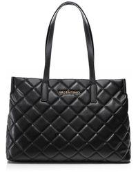 Valentino By Mario Valentino Ocarina Quilted Shopper Bag - Noir