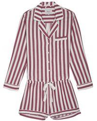 Rails Toledo Stripe Short Pajama Set - Pink