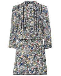 Zadig & Voltaire Raspail Crinkle Floral Dress - Multicolor