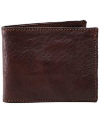 Campomaggi Leather Coin Wallet - Marron