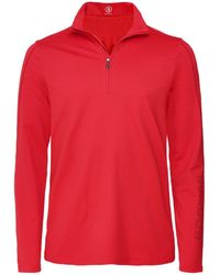 Bogner Half-Zip Harrison Top - Rouge