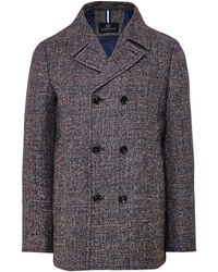 Schneiders Virgin Wool Double Breasted Malko Coat - Gris