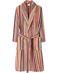 Paul Smith - Cotton Towelling Signature Stripe Robe - Lyst