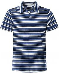 Oliver Spencer Slim Fit Striped Hawthorn Polo Shirt - Blue