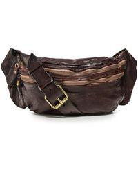 Campomaggi Leather Mock Croc Waist Bag - Brown