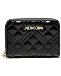 Love Moschino Quilted Zip Around Wallet - Noir