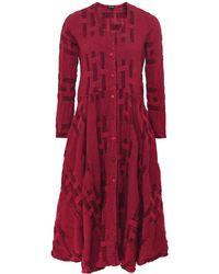 Grizas - Linen Blend Button Down Dress - Lyst