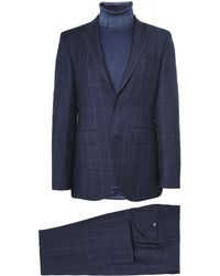 Hackett - Wool Prince Of Wales Check Suit - Lyst