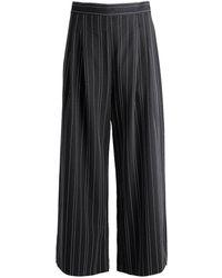 Kendall + Kylie Pinstripe Culottes - Noir
