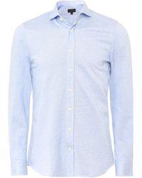 Baldessarini - Slim Fit Oxford Jersey Cotton Shirt - Lyst