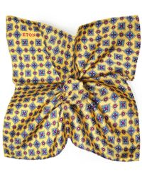 Eton of Sweden Silk Floral Pocket Square - Multicolor