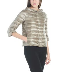 Herno Cropped Sleeves Down Jacket - Gray