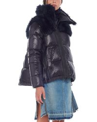 Sacai - Eco Fur Down Jacket - Lyst