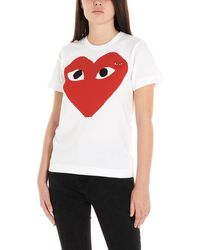 COMME DES GARÇONS PLAY T-shirt 'Red heart' - Rosso