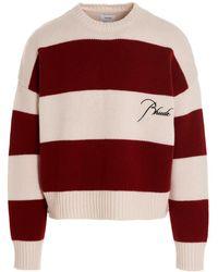 Rhude Maxi Stripe Jumper - Red