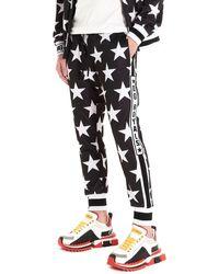Dolce & Gabbana All Over Stars Sweatpants - Black
