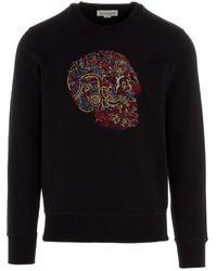 Alexander McQueen Felpa 'skull' - Black