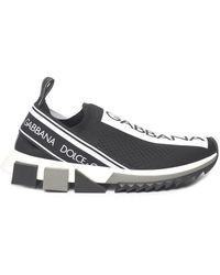 Dolce & Gabbana Sorrento Logo Slip-on Trainers - Black