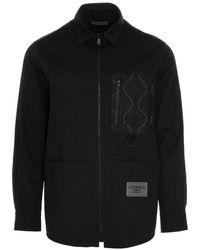 Letasca Cotton Mix Overshirt - Black