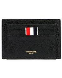 Thom Browne Logo Cardholder - Black