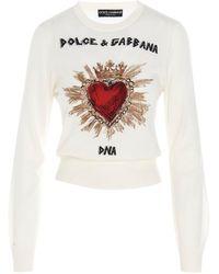 Dolce & Gabbana Maglia 'Cuore Sacro' - Bianco