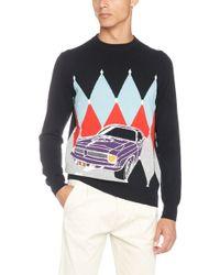 Ballantyne - Diamond Pattern And Car Sweater - Lyst